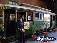 Mannequin with a Bendigo Tram . . . CLICK TO ENLARGE