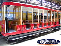 Red Passenger Tram in Bendigo . . . CLICK TO ENLARGE