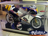 Phillip Island Circuit Museum Motorbike in Class Cabinet . . . CLICK TO ENLARGE