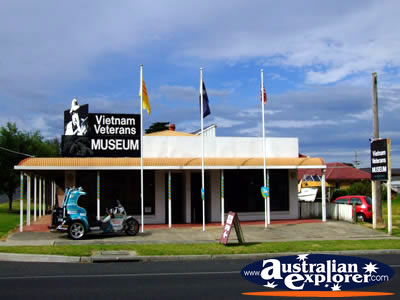 Vietnam Vets Museum in San Remo . . . CLICK TO VIEW ALL SAN REMO POSTCARDS