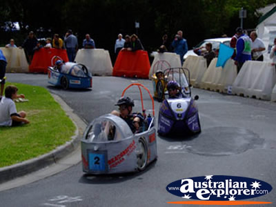 Wonthaggi HPV Cart Race . . . CLICK TO VIEW ALL WONTHAGGI POSTCARDS