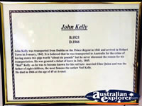 Beechworth Courthouse John Kelly Display . . . CLICK TO ENLARGE