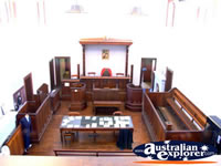 Inside Beechworth Courthouse . . . CLICK TO ENLARGE
