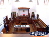 Courtroom at Beechworth Courthouse . . . CLICK TO ENLARGE