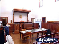 Courtroom Closeup at Beechworth Courthouse . . . CLICK TO ENLARGE