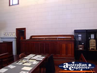 Beechworth Courthouse Jury Stand . . . CLICK TO ENLARGE