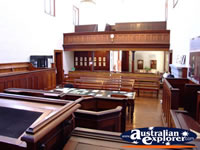 Audience Seating in Beechworth Courthouse . . . CLICK TO ENLARGE