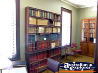 Books in the Beechworth Courthouse . . . CLICK TO ENLARGE