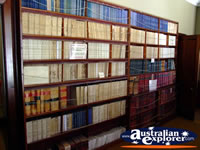 Bookshelves in Beechworth Courthouse . . . CLICK TO ENLARGE