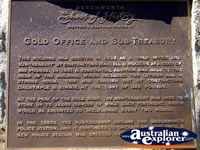 Beechworth Gold Office & Sub Treasury Plaque . . . CLICK TO ENLARGE