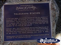 Beechworth Telegraph Station Plaque . . . CLICK TO ENLARGE