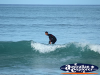 Surfers in the Ocean at Apollo Bay . . . CLICK TO ENLARGE
