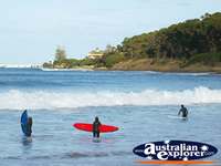 Surfers enjoying the surf at Apollo  Bay . . . CLICK TO ENLARGE