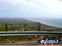 Arthurs Seat Murrays Lookout Signpost and View . . . CLICK TO ENLARGE
