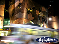 Bus Speeding Past at Federation Square . . . CLICK TO ENLARGE