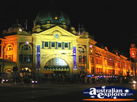 Night shot of Flinders Street Station . . . CLICK TO ENLARGE