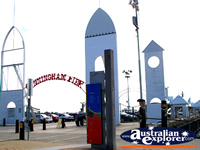 Entrance to Cunningham Pier in Geelong . . . CLICK TO ENLARGE
