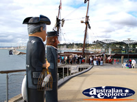 Crowds on Pier at Geelong Harbour . . . CLICK TO ENLARGE