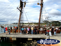 Old Sailing Ship in Geelong Harbour . . . CLICK TO ENLARGE