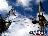 Masts of the Sailing Ship in Geelong . . . CLICK TO ENLARGE