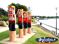 Lifeguard Statues on Geelong Harbour . . . CLICK TO ENLARGE
