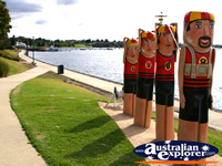 Statues on Geelong Harbour . . . CLICK TO ENLARGE