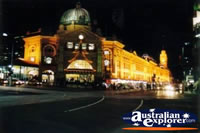 Melbourne Train Station at Night . . . CLICK TO ENLARGE