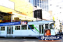 Melbourne Tram on a busy city street