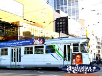 Melbourne Tram on a busy city street . . . CLICK TO ENLARGE