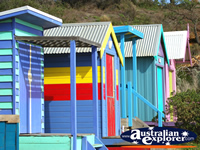 Beach Huts on Mornington Beach . . . CLICK TO ENLARGE