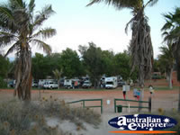 View of Eighty Mile Beach Caravan Park . . . CLICK TO ENLARGE