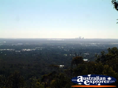 View From Jarrahdale Of Perth . . . CLICK TO VIEW ALL PERTH POSTCARDS
