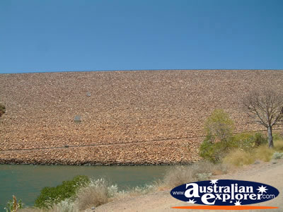 Lake Argyle Ord Dam View . . . CLICK TO VIEW ALL LAKE ARGYLE POSTCARDS
