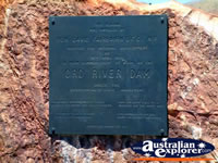 Lake Argyle Ord River Dam Plaque . . . CLICK TO ENLARGE