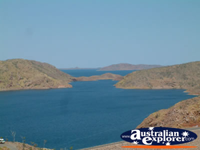 Landscape of Lake Argyle . . . CLICK TO VIEW ALL LAKE ARGYLE POSTCARDS