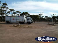 Truck at Balladonia Caravan Park . . . CLICK TO ENLARGE