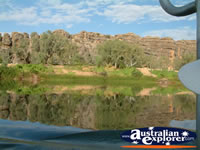 Fitzroy Crossing Geikie Gorge Greenery and Rock Walls . . . CLICK TO ENLARGE