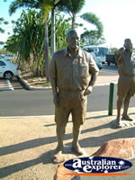 Pair of Memorial Statues in Broome . . . CLICK TO ENLARGE