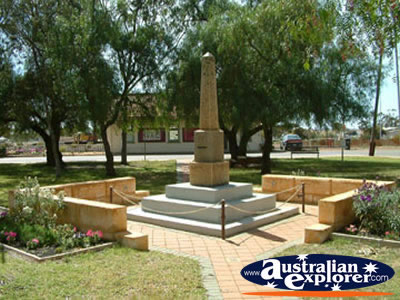 Dalwallinu War Memorial . . . CLICK TO VIEW ALL DALWALLINU POSTCARDS