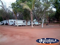 Campervans at Eighty Mile Beach Caravan Park . . . CLICK TO ENLARGE