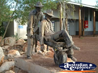Statue at Halls Creek . . . CLICK TO ENLARGE