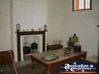 Greenough Police Station And Gaol Table and Fireplace . . . CLICK TO ENLARGE