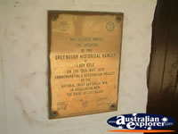 Greenough Police Station And Gaol Plaque . . . CLICK TO ENLARGE