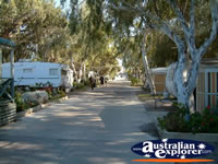 View of Greenough Rivermouth Caravan Park . . . CLICK TO ENLARGE