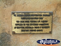 Plaque at Greenough St Peters Church . . . CLICK TO ENLARGE
