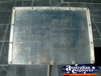 Geraldton HMAS Sydney Memorial Plaque . . . CLICK TO ENLARGE