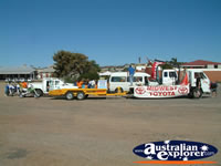 Vehicles Waiting for Parade in Geraldton . . . CLICK TO ENLARGE