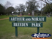 Arthur Norah Breeden Park Sign . . . CLICK TO ENLARGE