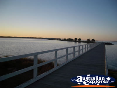 Australind Leschenault Estuary at Sunset . . . CLICK TO VIEW ALL AUSTRALIND POSTCARDS