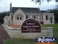 Busselton St Marys Anglican Church Sign . . . CLICK TO ENLARGE